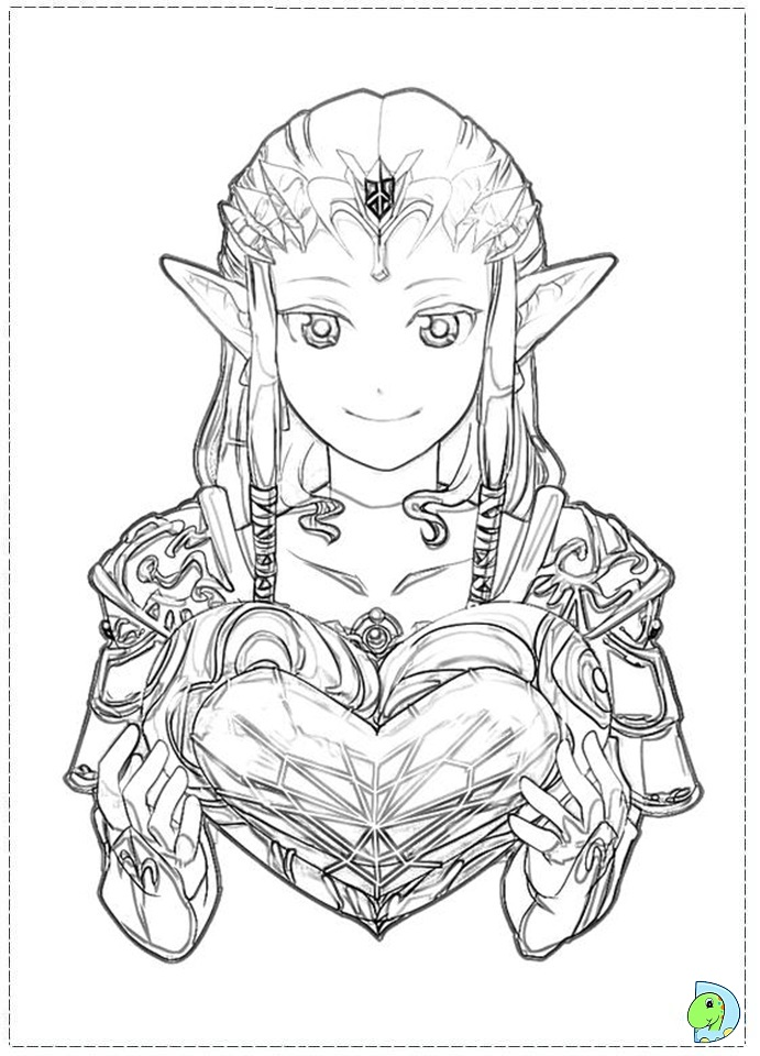 Zelda Coloring Pages Anime Art Coloring Pages