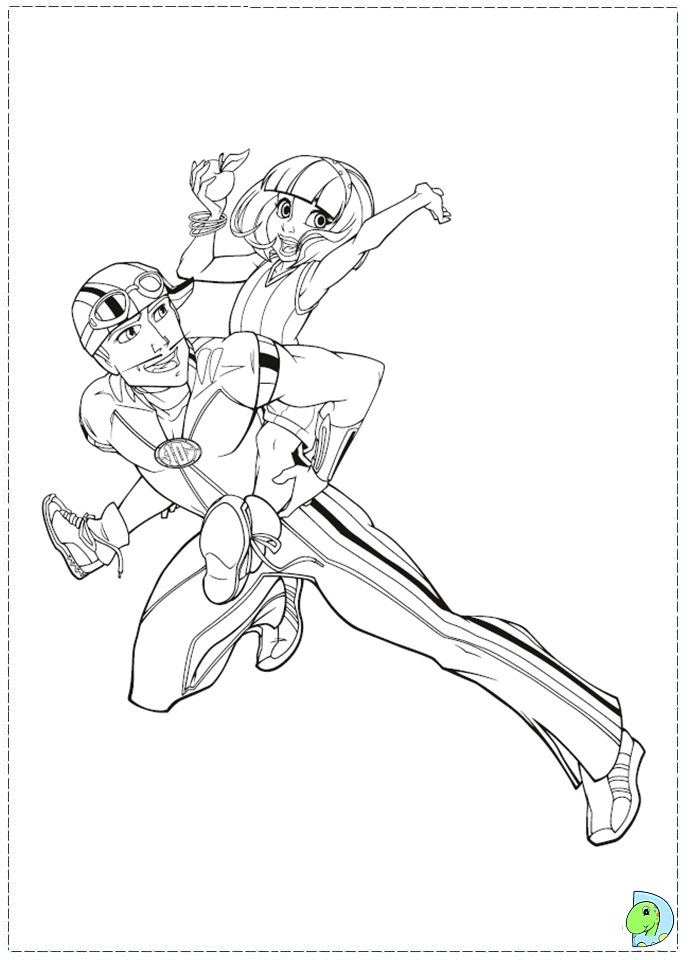 Free Coloring Pages Of Lazytown