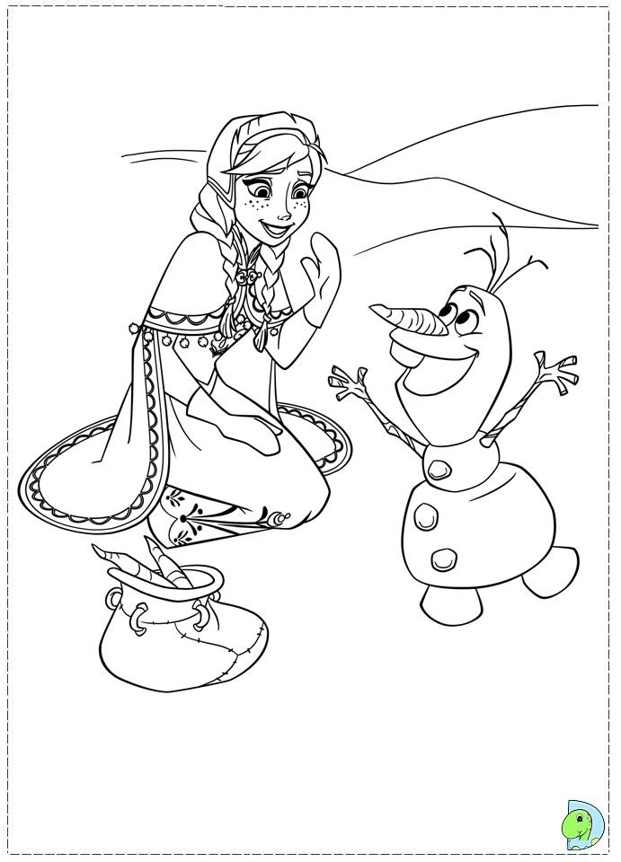 Frozen coloring pages, Disney's Frozen coloring page