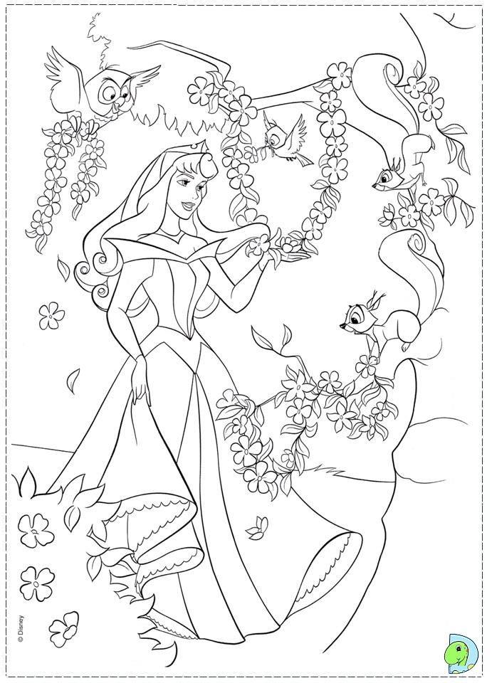 Pin Sleeping Beauty Coloring Pages on Pinterest
