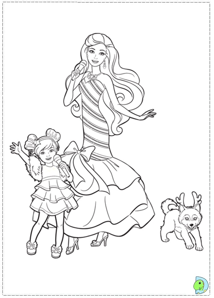 Christmas Barbies Coloring Pages Novocom Top