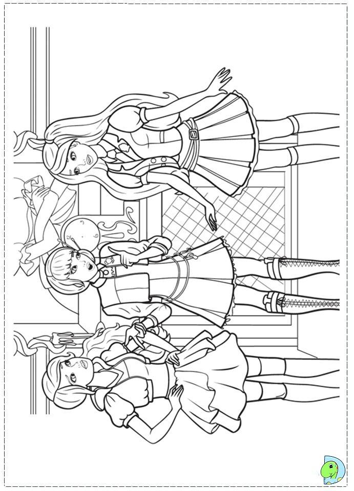 Barbie Princess Charm School Coloring Pages : barbie, princess, charm, school, coloring, pages, Barbie, Princess, Charm, School, Coloring, Page-, DinoKids.org