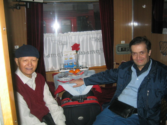 in a Russian train from Moscow to Kazan together with my father