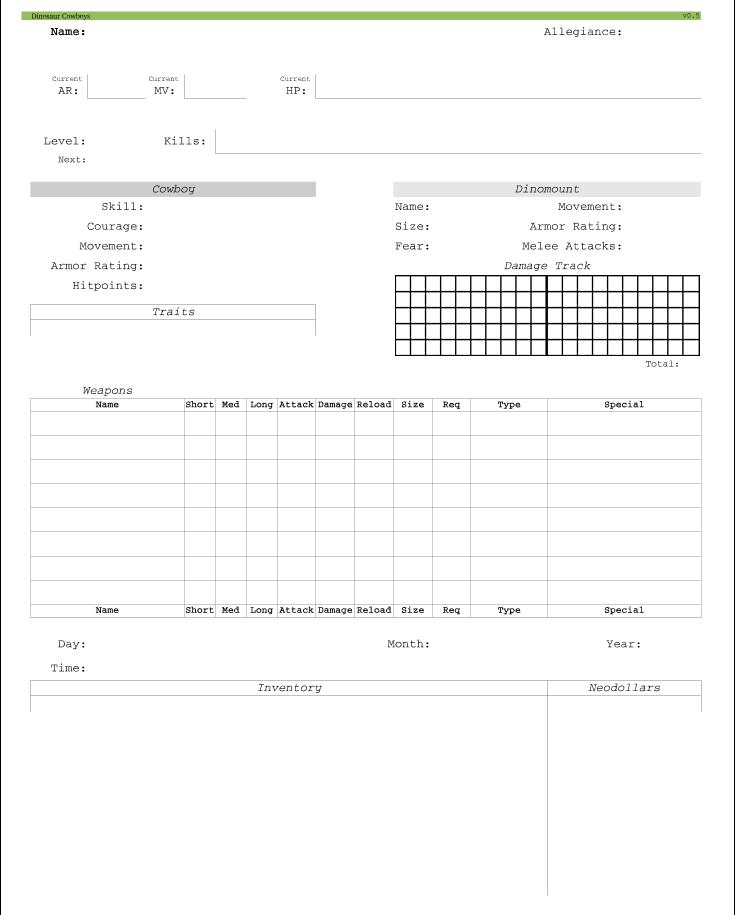 Character Sheet v0.1