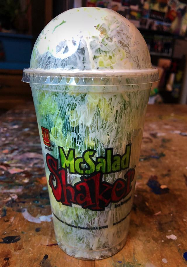 Recreating McDonald's McSalad Shakers. | Dinosaur Dracula!