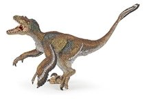 Dinosaurier Figuren Papo 55055 - Velociraptor mit Federn, mehrfarbig - 1