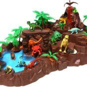 SIMBA Dinoland Nature World mit 20 Dinosaurier Figuren Landschaft Urzeit NEU