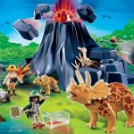 PLAYMOBIL® 4170 - Triceratops mit Baby und Vulkan