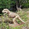 Design Toscano Halloween Figur Bad to the Bone, Jurassic T-Rex Raptor Dinosaur Statue, beige