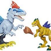 Hasbro B1388EU4 - Jurassic World Hero Mashers Indominus Rex vs. Velociraptor