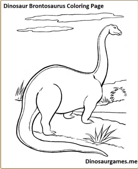 Brontosaurus Dinosaurs Facts and How to make coloring for