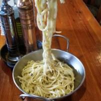 cacio e pepe fork draped