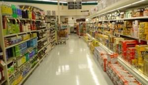 Prateleiras de supermercados