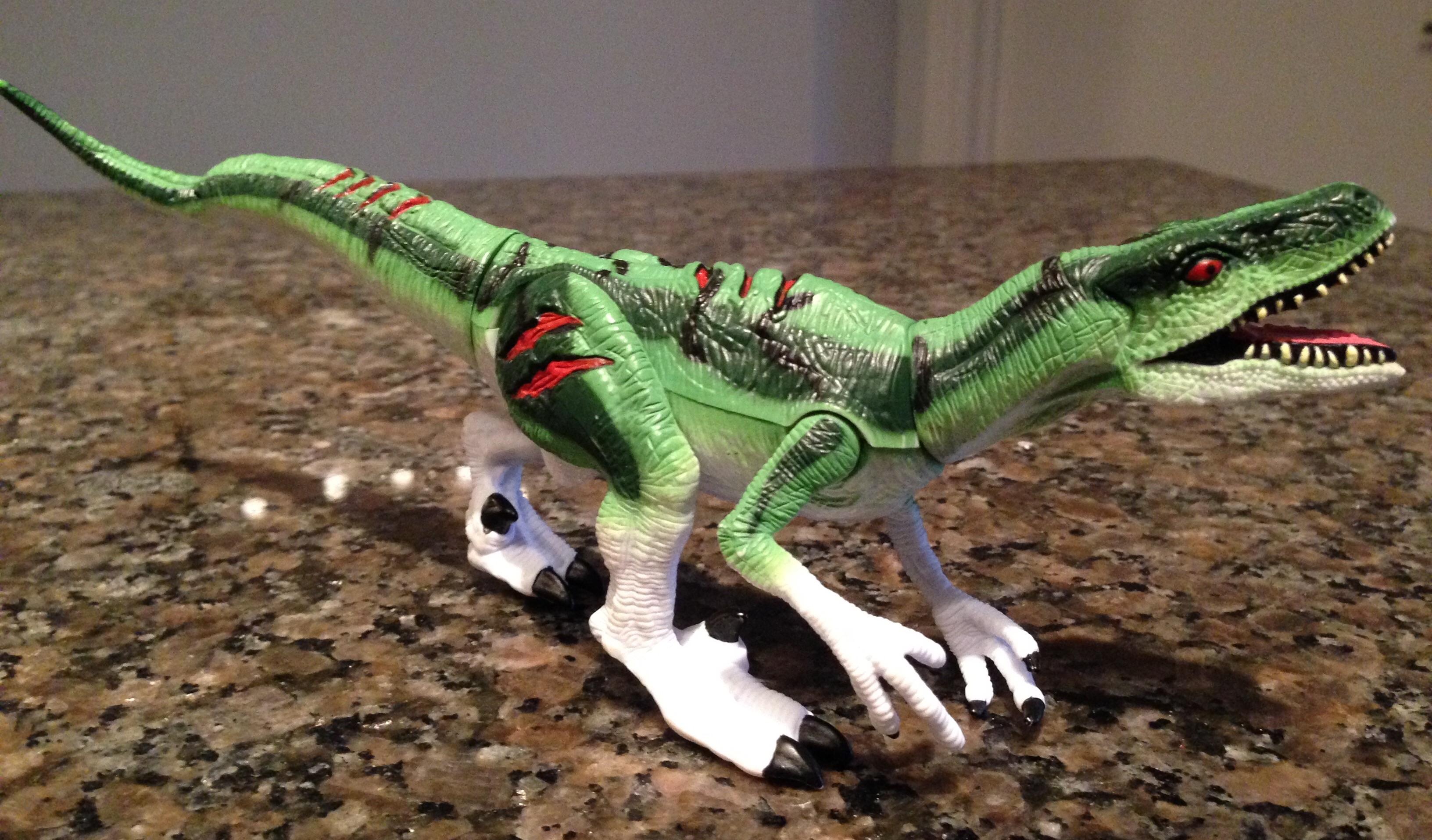 Jurassic park raptor toys theme