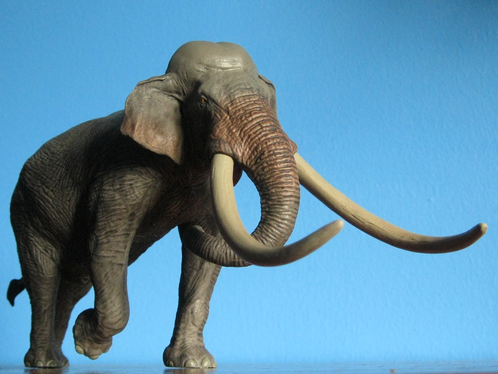 Pnso African Elephant Wild Life Realistic Large Model Toy Scientific Art Figures