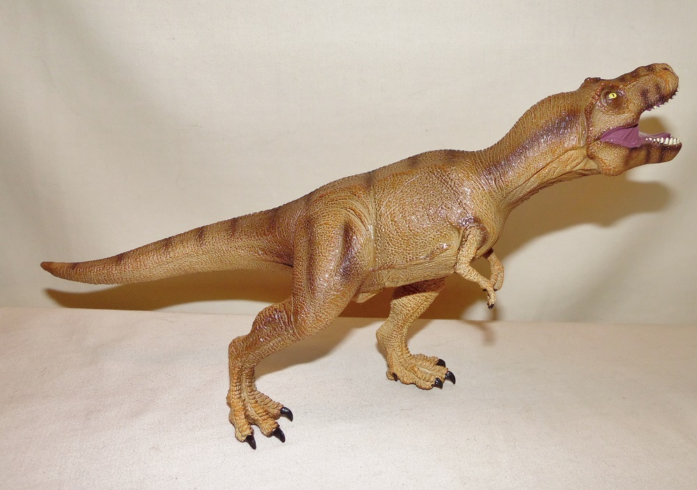 "Velociraptor Soft PVC Dinosaur new with tags 20/"" yellow, black stripes"
