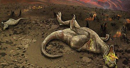Когда стали вымирать динозавры?
