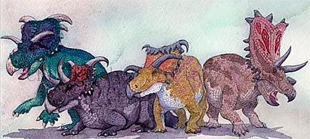 Группы динозавров: цератопсы