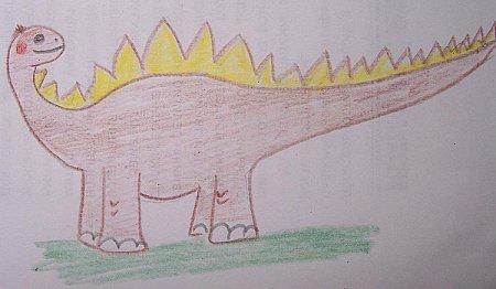 Как нарисовать динозавра для ребенка?