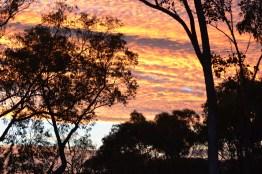Heat is forgotten when the sunset is so stunning