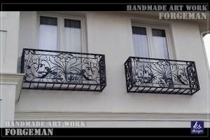 ロートアイアン,窓花台,プランターボックス