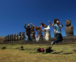イースター島で遊ぶ