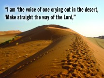 Sunday Of Advent Voice Crying In - Year of Clean Water