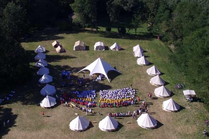 Les tentes du PéléVTT