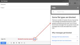 Gmail interdit le JavaScript en pièce jointe