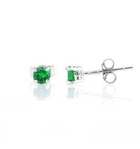 solitaire stud earrings