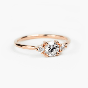 minimal diamond engagement ring