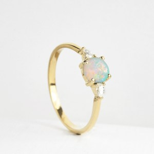 opal and diamond engagement ring