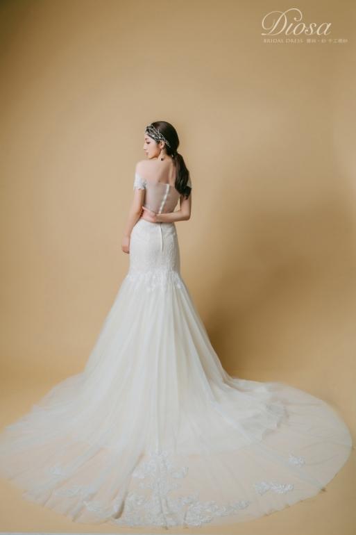2017春季新款婚紗 X 歐式復古奢華圖騰宴客款白紗 » Diosa bridal dress 高級手工禮服