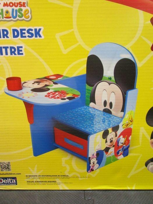 mickey mouse clubhouse chair ergonomic bedroom auction nation north phoenix az general merchandise delta disney desk with storage bin age 3 6 years