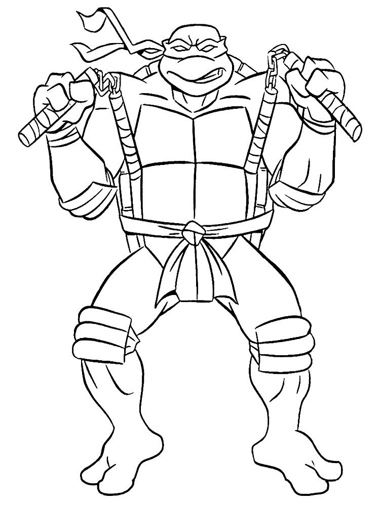 Descargar Gratis Dibujos Para Colorear Tortugas Ninja