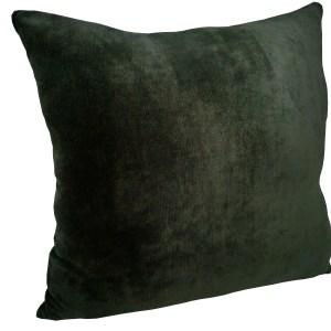 almofada decorativa veludo verde musgo