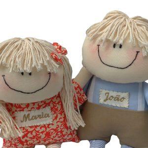 bonecos de pano joão e maria
