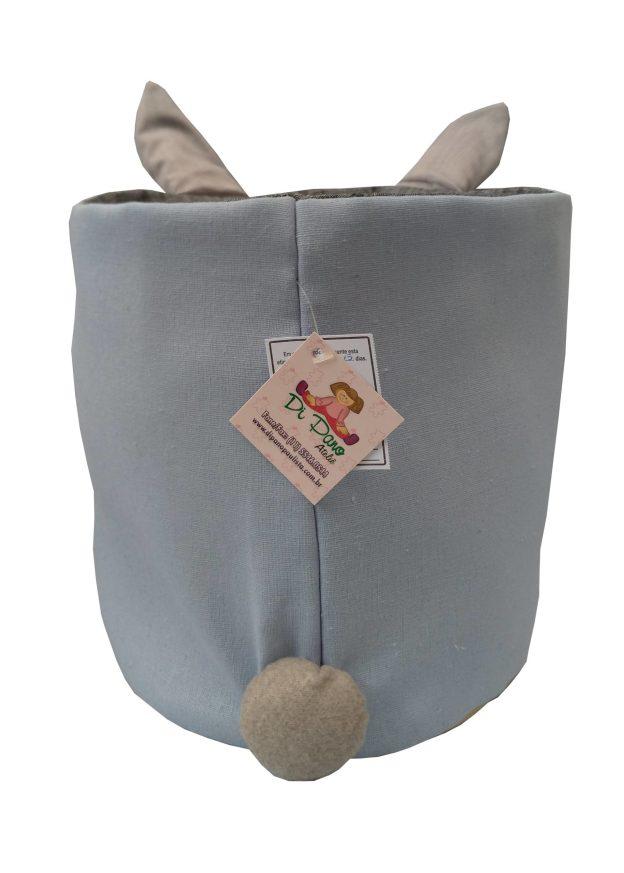costas de cesto organizador com orelhas e rabinhoc
