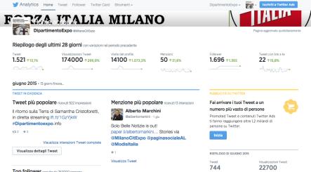Panoramica Twitter analitics