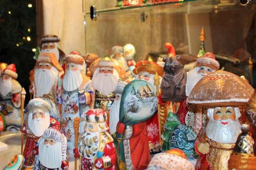 Wooden Wonders hand painted Santas