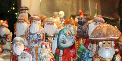Wooden Wonders hand painted Santas