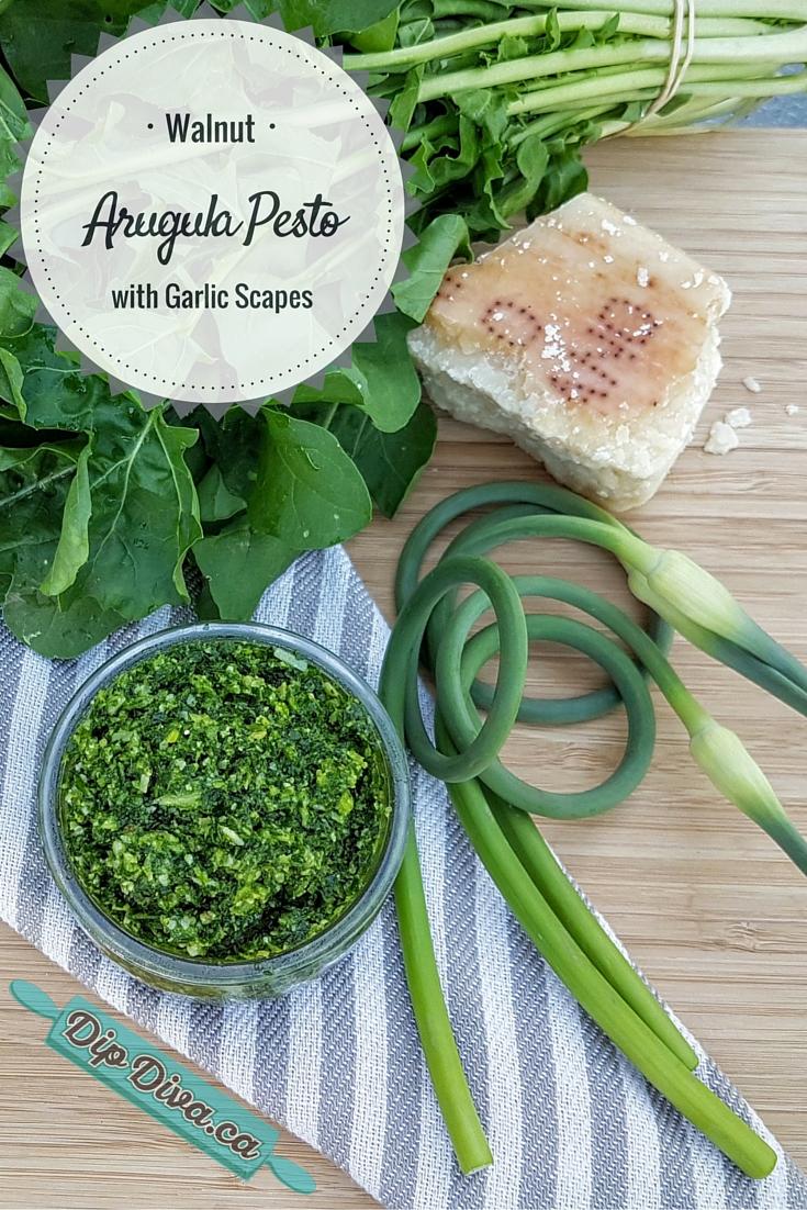 Arugula Garlic Scape Pesto