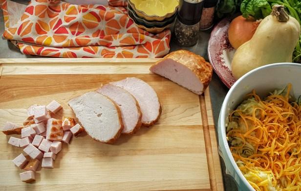 harvest ham and hashbrown bake