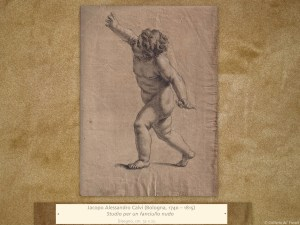 Jacopo Alessandro Calvi (Bologna, 1740 – 1815) | Studio per un fanciullo nudo | Disegno, cm. 32 x 22.
