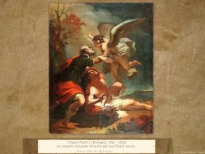 Filippo Pedrini(Bologna, 1763 – 1856) | Un angelo dissuade Abramo dal sacrificare Isacco | Olio su tela, cm. 63,5 x 50,1.