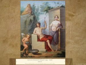 Gennaro Maldarelli (Napoli 1795 – 1858) | Adone | Olio su prima tela in cornice dorata coeva, cm. 35,8 x 28,5.