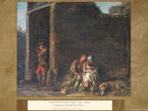 Dipinti antichi | Léonard Defrance(Liège, 1735 – 1805) | Il riposo al Grand Carrefour
