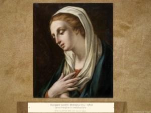 Giuseppe Varotti (Bologna, 1715 – 1780) | Santa Vergine in meditazione | Olio su prima tela, cm. 52,7 x 44,5.