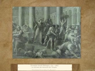 Giuseppe Varotti (Bologna, 1715 – 1780) | La cacciata dei mercanti dal Tempio | Olio monocromo su carta, cm. 38,3 x 51,5.