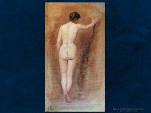 Luigi Busi (1837 – 1884) Nudo femminile | Olio su tela, cm. 70 x 40